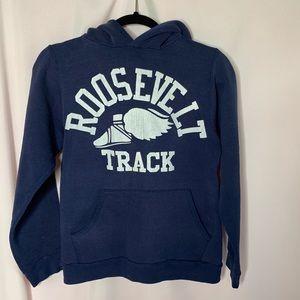 Vintage Russell Roosevelt Track hoodie navy